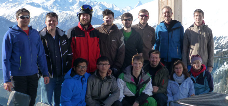 Ski group excursion