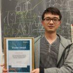 Lujun won the Poster Award. Congratulations!